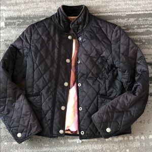 Coach Black Quilted Jacket with Colorful Legacy S